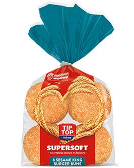 Supersoft Sesame King Burger Buns 8 Pack