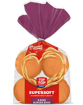 Supersoft White King Burger Buns 8 Pack