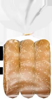 Catering 6″ Long Roll Sesame 6 Pack