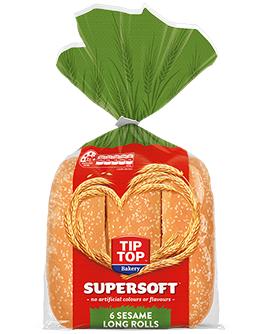 Supersoft Sesame Long Rolls 6 Pack