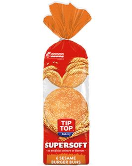 Supersoft Sesame Burger Buns 6 Pack